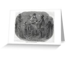 The Victorian Christmas Waits 1848 Greeting Card