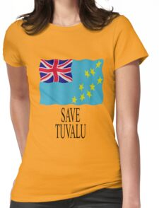 Save Tuvalu - Global warming Womens Fitted T-Shirt