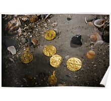Scuba Divers uncover a hoard of 2000 gold coins from the Fatimid period Poster
