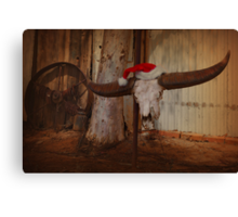 Buffalo Christmas Canvas Print