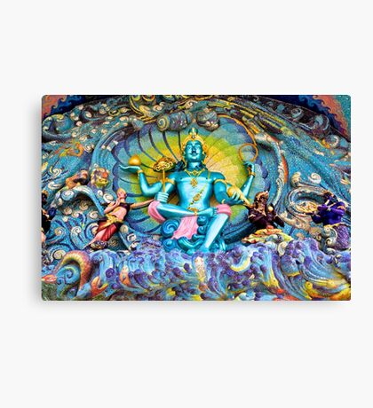 Colorful Temple Paintings Canvas Print