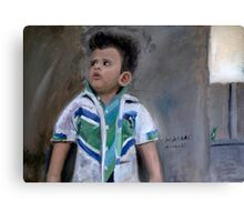 Painting of a Little Kid Canvas Print