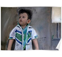 Painting of a Little Kid Poster