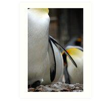 Pppickup a penguin! Art Print