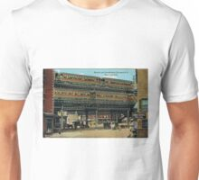 Bowery NYC Double Decker Elevated Train Unisex T-Shirt