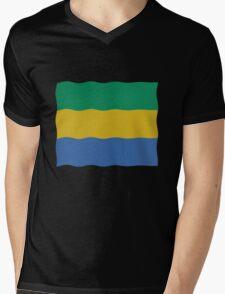 Gabon flag Mens V-Neck T-Shirt