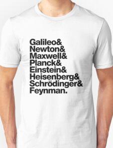 The Physicists List (dark type) Unisex T-Shirt