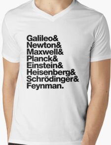 The Physicists List (dark type) Mens V-Neck T-Shirt
