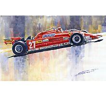 Ferrari 126 CK Gilles Villeneueve Spanish GP 1981 Photographic Print