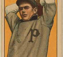 Benjamin K Edwards Collection Jimmy Lavender Providence Team baseball card portrait by wetdryvac