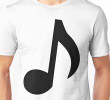 Black Musical Note Unisex T-Shirt