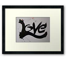 Love-A-love Crow Framed Print