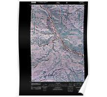 USGS Topo Map Washington State WA Nile 20110505 TM Inverted Poster