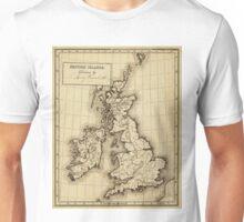 Vintage Map of The British Isles (1850) Unisex T-Shirt