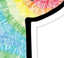 """Tie Dye """"P"""" Sticker"""