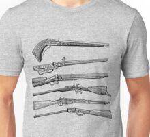 Vintage Weapons Antique Guns Dictionary Art Unisex T-Shirt