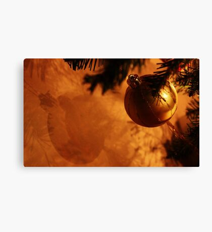 Bauble on the wall Canvas Print