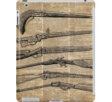 Vintage Weapons Antique Guns Dictionary Art iPad Case/Skin