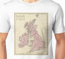 Vintage Map of The British Isles (1864) Unisex T-Shirt