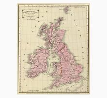 Vintage Map of The British Isles (1864) T-Shirt