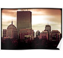 Boston Buildings Poster