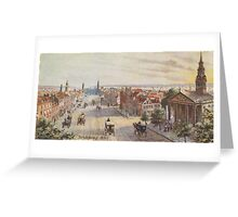 Vintage Broadway NYC Artwork (1840) Greeting Card