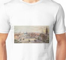 Vintage Broadway NYC Artwork (1840) Unisex T-Shirt