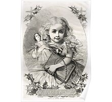Victorian Child Christmas Presents 1862 Poster
