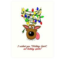 Holiday Spirit Card Art Print