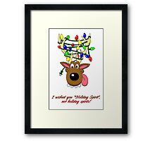 Holiday Spirit Card Framed Print