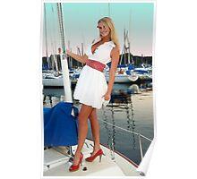 Jade Goes Sailing Poster