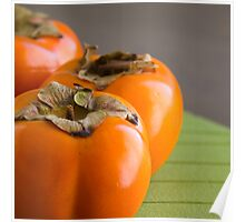 Rape Persimmons on the table Poster
