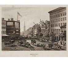Vintage Broadway NYC Illustration (1840) Photographic Print