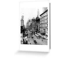 Vintage Broadway NYC Photograph (1920) Greeting Card
