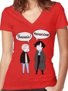 fantastic meretricious Women's Fitted V-Neck T-Shirt