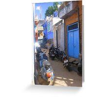 Streets of Jodhpur Greeting Card