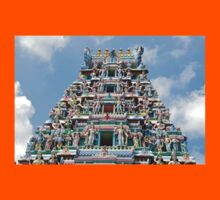 Colourful Hindu Temple in Singapore Kids Tee
