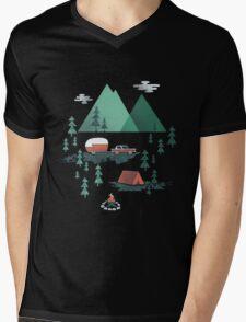 Gone Camping Mens V-Neck T-Shirt