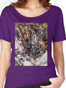 Wasps Black and Orange a1 (c)(h), a moment of their life  by Olao-Olavia par Okaio Créations Women's Relaxed Fit T-Shirt