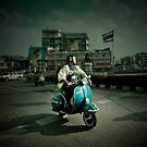 Vespa in Bangkok by Laurent Hunziker