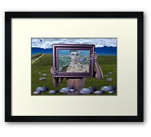 Flying Fish (Magritte) Framed Print