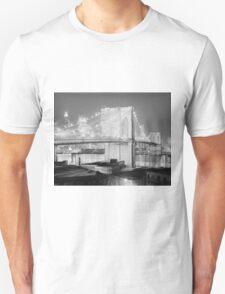 Brooklyn Bridge Black & White Unisex T-Shirt