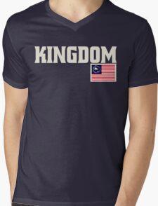 KingDom Patriotic Mens V-Neck T-Shirt