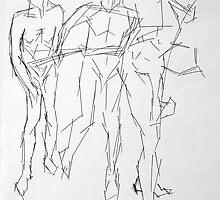 Men standing  by Heather  Verrall