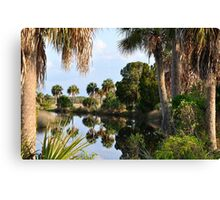 Reflection in the Canal Canvas Print