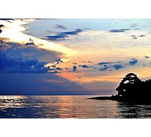 Bayport at Sunset Photographic Print