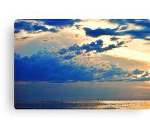 Sunset on Bayport Canvas Print