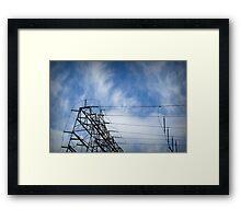 Power Lines Framed Print