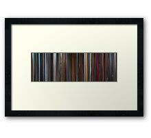Moviebarcode: The Aviator (2004) Framed Print
