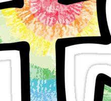 """Tie Dye """"T"""" Sticker"""